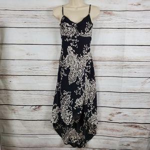 WHBM | Paisley Chiffon High Low Sleeveless Dress